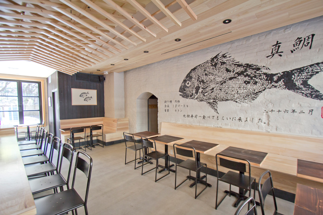 Newest restaurant from ganso features shou sugi ban